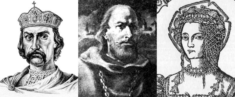 Владимир Великий (около 960-1015), Войшелк (1223-1267), Бона Сфорца (1494-1557)