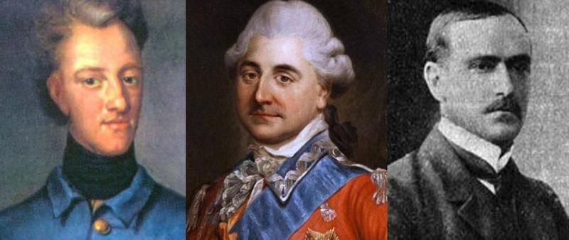 Карл XII (1682-1718), Станислав Август Понятовский (1732-1798), Роман Скирмунт (1868-1939)
