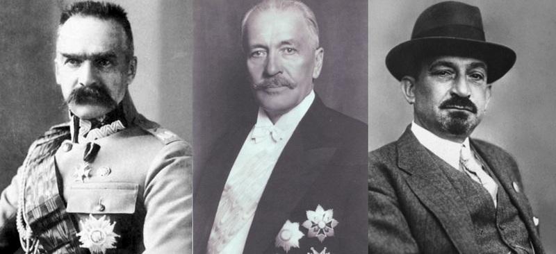 Юзеф Пилсудский (1867-1935), Игнаций Мосцицкий (1867-1946), Хаим Вейцман  (1874-1952)