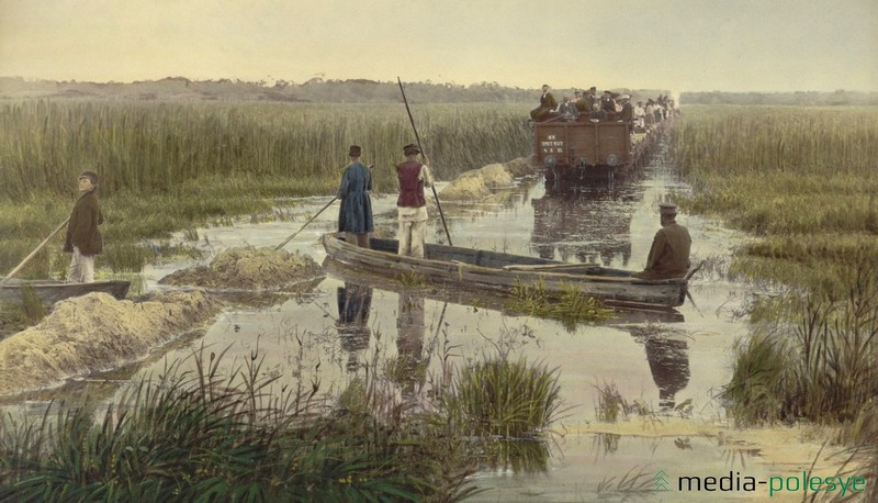 Производство земляных работ в долине Припяти на 313-й версте с рельсового пути