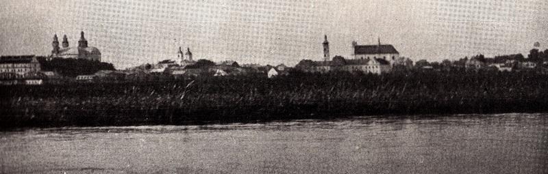 Вид на Пинск из-за реки, октябрь 1934 год. Фото Луизы Арнер Бойд