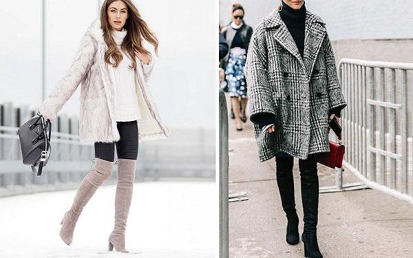 Oversize-наряды с высокими сапогами: стильно и актуально