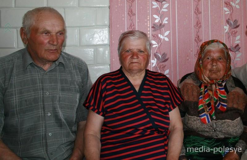 Анастасия Сергеевна с дочерью Екатериной и её мужем Степаном