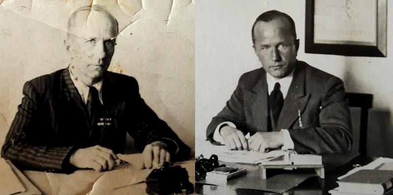 Н.А.Ободовский после войны, 1946 год; Н.А.Ободовский до войны, 1941 год