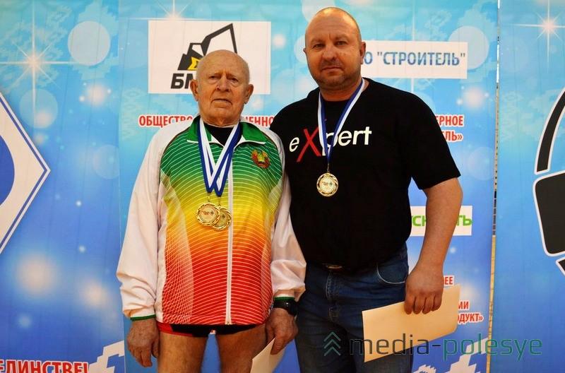 Сергей Сиротко, самый возрастной атлет страны (80 лет) и Анатолий Марковиченко