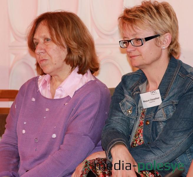Светлана Алексиевич и шведская журналистка Мария Сёрдэрберг