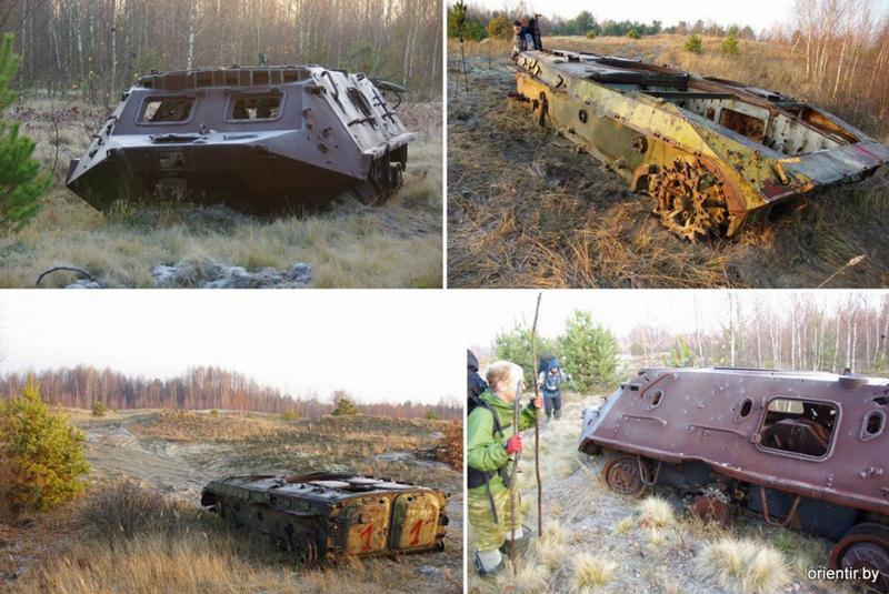 Еще лет 10 назад здесь можно было найти останки военной техники, служившей мишенями. Фото: orientir.by (2011 г.)