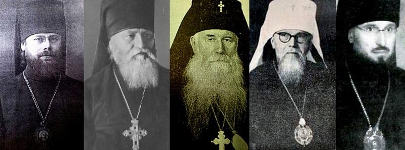 Организаторы Собора (слева на право): архиепископ Александр (Иноземцев); епископы: Поликарп (Сикорский), Игорь (Губа), Никанор (Абрамович), Георгий (Коренистов)