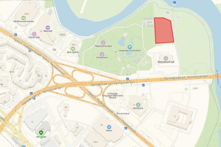 Примерные границы участка. Изображение: «Яндекс.Карты»