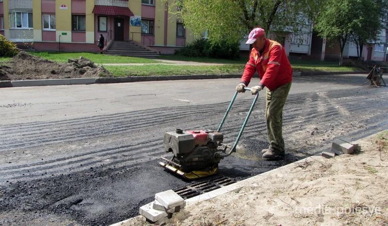 1.000 тонн асфальта на 500 метров дороги. В Пинске продолжается ремонт дорожной сети