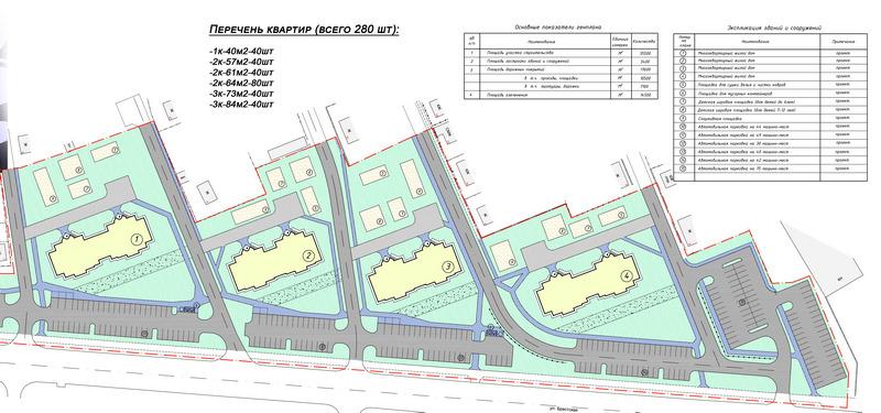 Так планируют расположить новостройки, стоянки для авто будут расположены вдоль улицы Бресткой. Фото с сайта Пинского ГИК