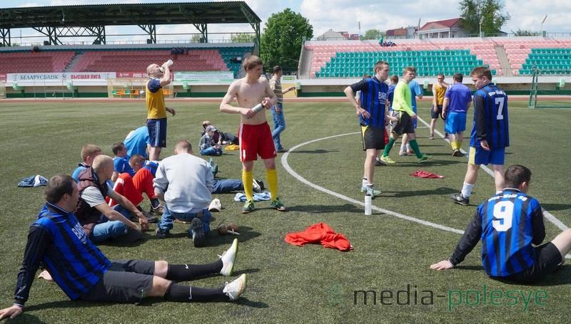 Во время перерыва футбольного матча