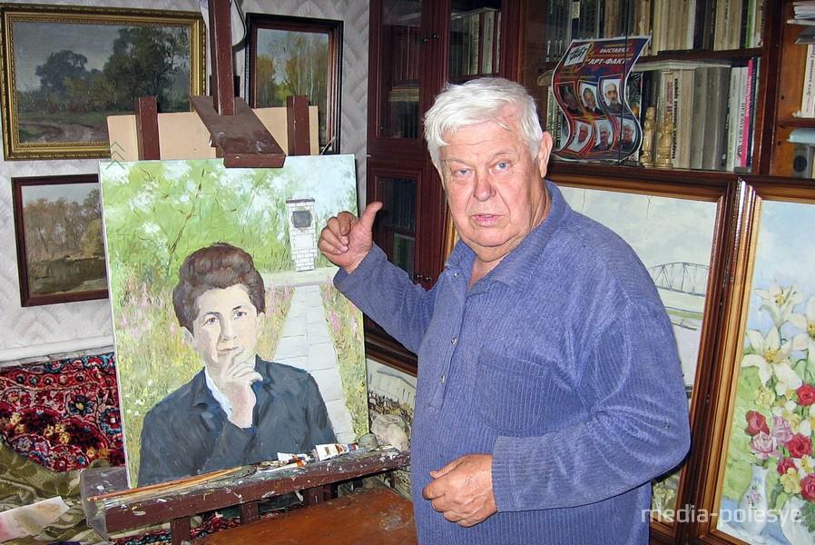 Николай Козловский в мастерской