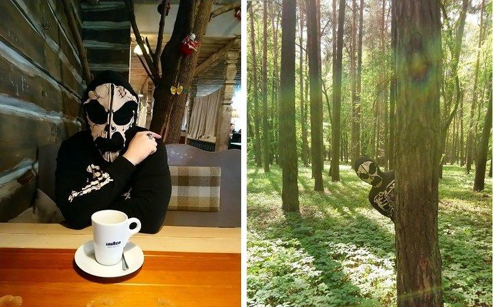В этой кофте турист из России гулял по городу: делал снимки в кафе, парке Челюскинцев и те самые фото возле скульптуры. Фото взято с сайта: pikabu.ru