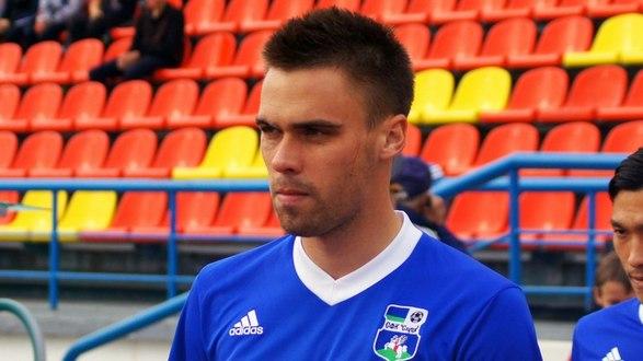 Николай Зенько. За время просмотра в микашевичской команде он уже отметился двумя забитыми мячами в матчах с мозырской «Славией» и гродненским «Неманом»