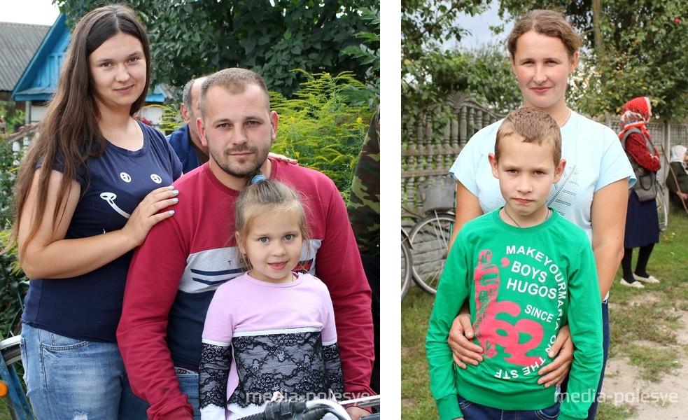София Лесько с родителями. Никита Бичко с мамой