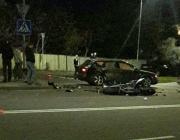 В Пинске мотоцикл врезался в автомобиль