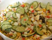 КАК разнообразить меню салатом с кукурузой