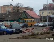В Лунинце городской автобус стал причиной аварии