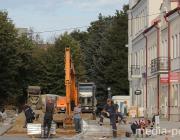 В  Пинске с центральной улицы угнали экскаватор