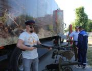 В столицу Полесья приехал музей на колёсах