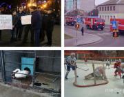 Смерть под колёсами поезда, протест патриотов, задержание гражданина Ирана, спасение лебедя и человека