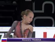 Россиянка Александра Трусова впервые в истории женского фигурного катания выполнила четверной лутц