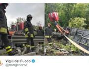 В ДТП с туристическим автобусом в Италии пострадала гражданка Беларуси