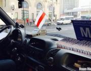 Міліцыянт у Мінску: Бел-чырвона-белы сьцяг забаронены? Кім? Няма такога закону