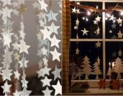 12 вариантов украшения окон к Новому году