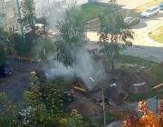 На улице Центральной в Пинске прорвало трубу теплосетей