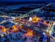 Как выглядит новогодний Пинск с высоты птичьего полёта