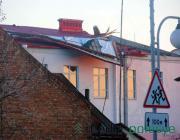 В Пинске ветром сорвало крышу со школы