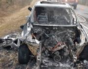 BMW пинчан полностью сгорел под Ивацевичами