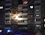 В пинской 9-этажке горел балкон