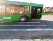 Автобус наехал на пешехода в Пинске