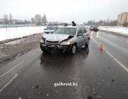 Житель Микашевичей уснул за рулём по дороге в Пинск и совершил ДТП