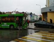 В центре Пинска «Ауди» не разминулась с автобусом «МАЗ»