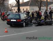 В Пинске Volkswagen не пропустил Suzuki, мотоциклист погиб