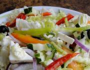 КАКие краски лета на тарелке, или Салат с овощами и творожным сыром