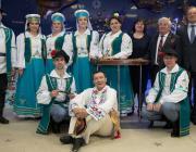Артисты из Давид-Городка побывали в гостях у первого белорусского космонавта Петра Климука
