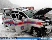 Автомобиль пинских спасателей перевернулся в Ивацевичском районе