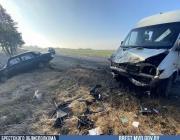 Лобовое столкновение на дороге в Столинском районе