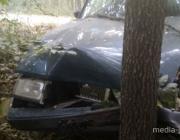 25-летний бесправник на «Вольво» съехал в кювет и врезался в дерево