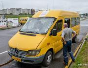 В Минске возле гипермаркета Bigzz перевернулась маршрутка