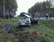 В Лидском районе в автоаварии погибла женщина, двое детей — в реанимации
