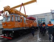 Первая модернизированная дрезина получила новую жизнь в локомотивном депо ст.Лунинец