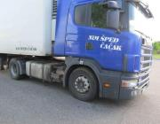 В Столинском районе таможенники изъяли фуру Scania с тонной контрабандной солярки