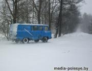 На Столинщине – перебои с электроэнергией и заметённые снегом дороги
