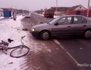 Пьяный водитель сбил велосипедиста